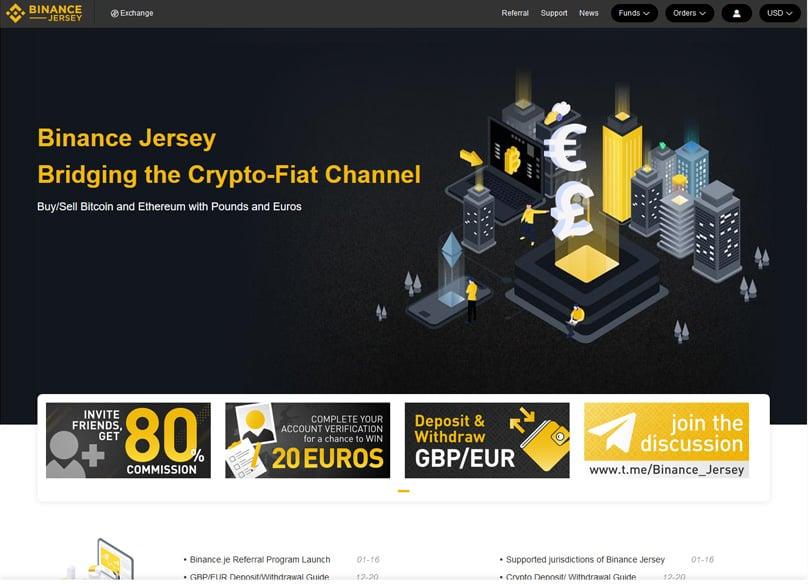 Binance Jersey Trading Screen