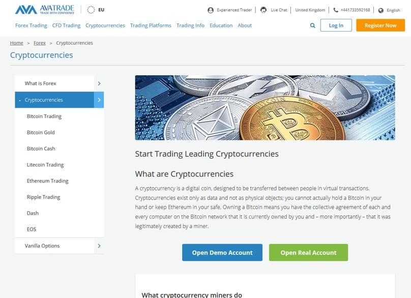 AVATrade Cryptocurrency