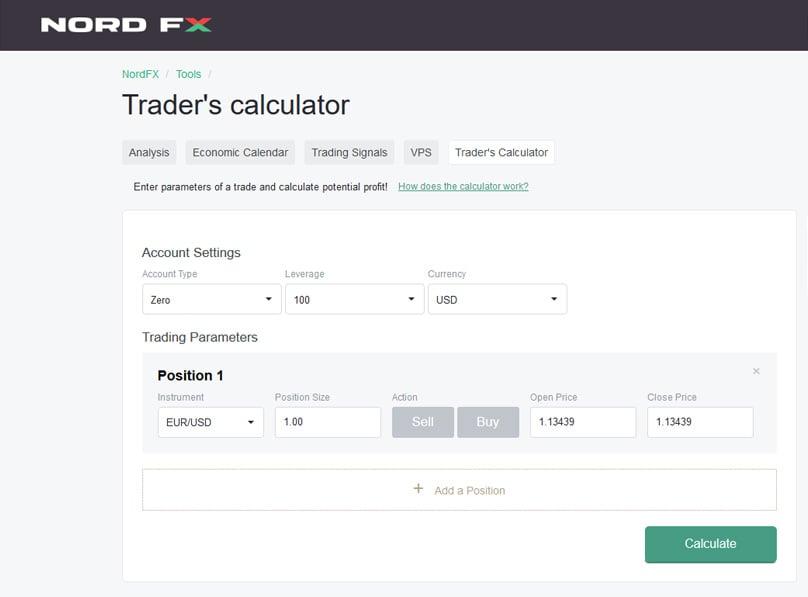 Traders Calculator