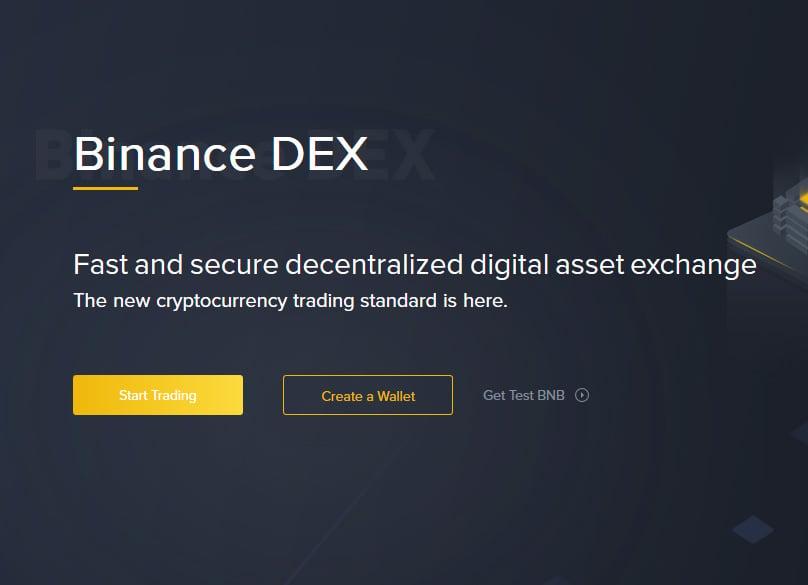 Binance DEX Account Signup