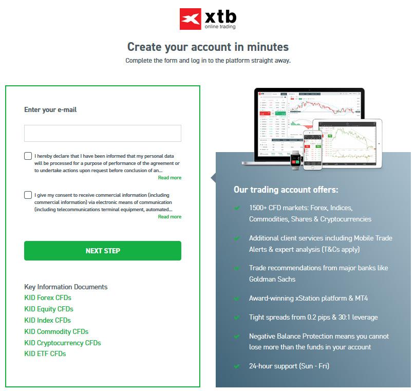 XTB Account Signup
