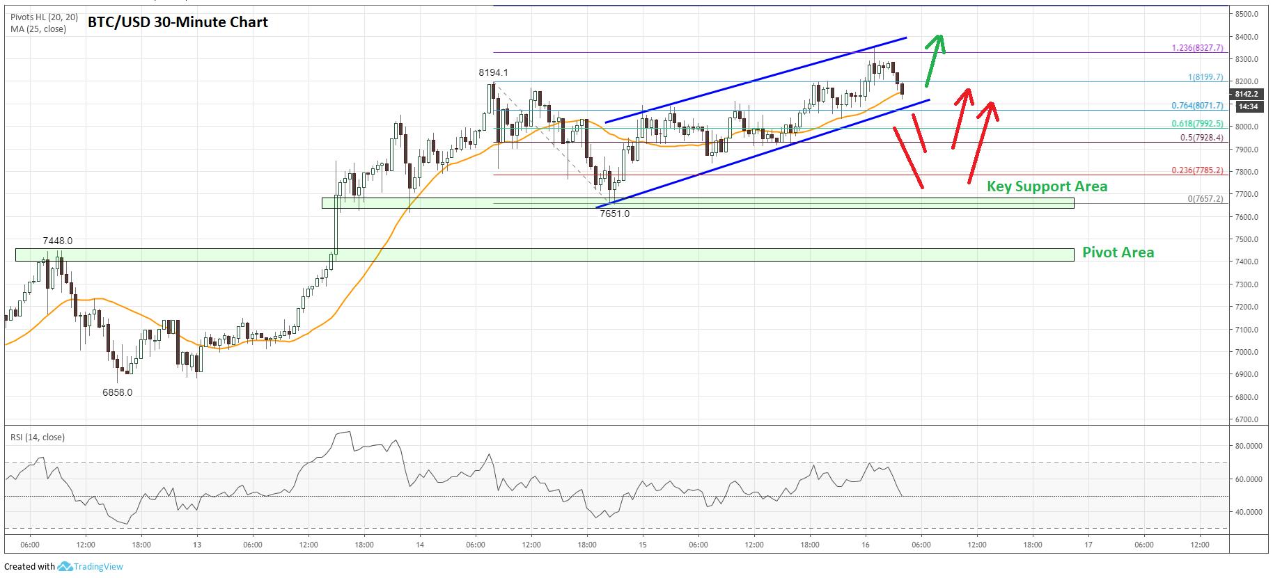 Bitcoin Price Analysis (BTC to USD) Chart