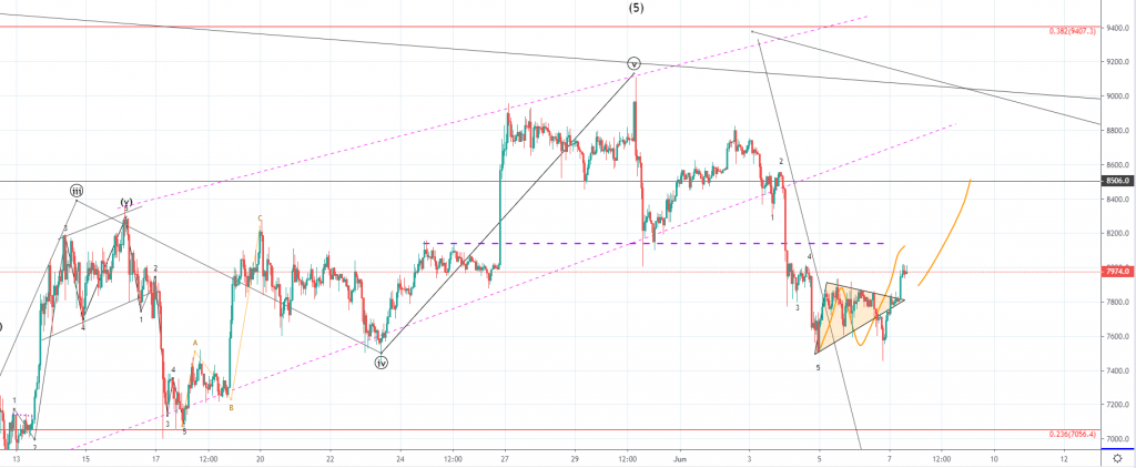 Bitcoin Price Analysis: BTC Starts a Bullish Recovery Over $8000