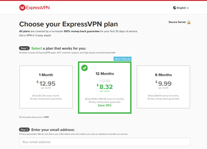 ExpressVPN Pricing