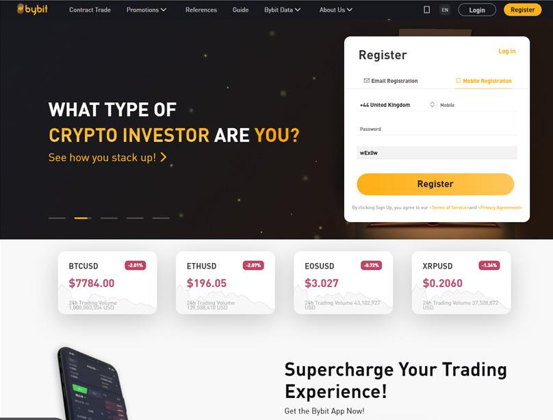 Bybit Homepage
