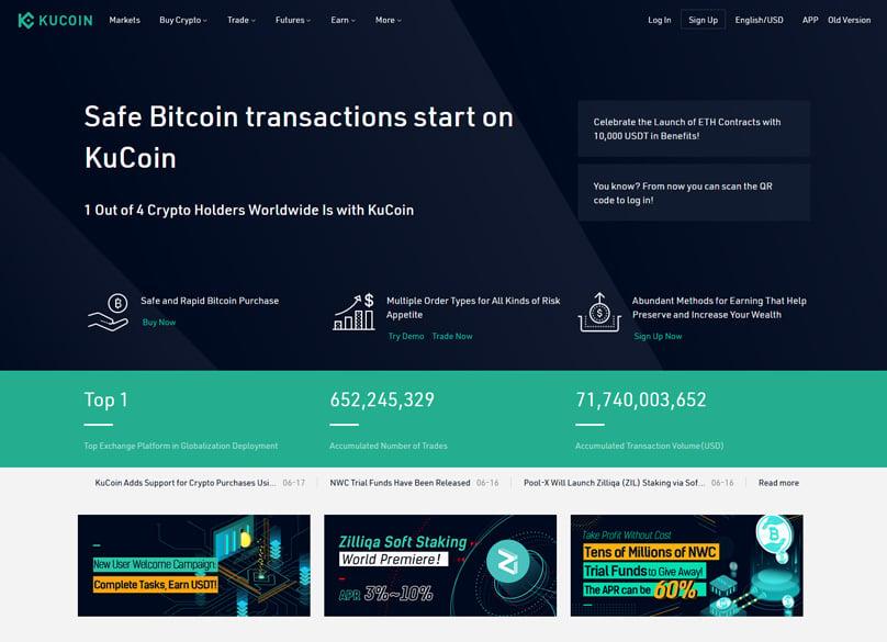 Kucoin Homepage