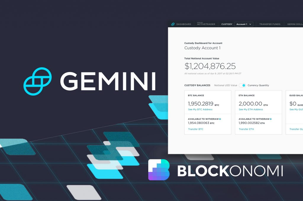 Gemini Launches Crypto Custody as SEC Asserts Bitcoin Security Needed