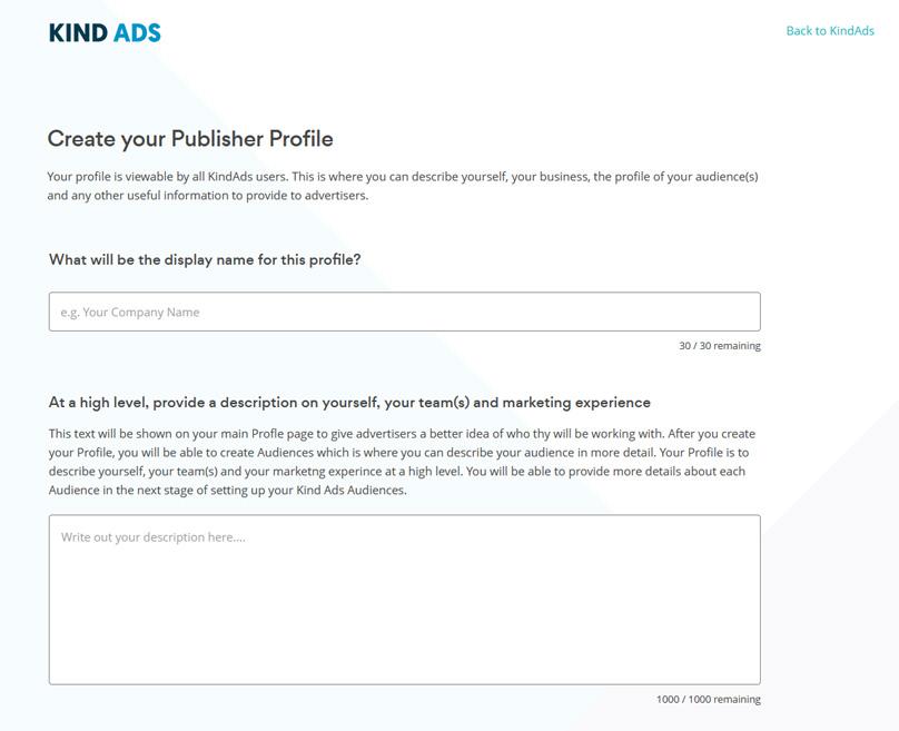 Publisher Profile