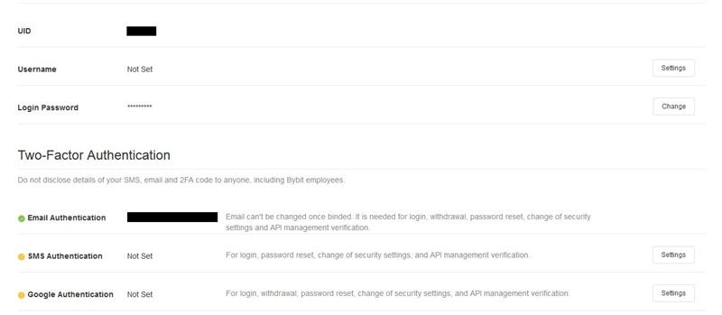 Bybit Account Configuration
