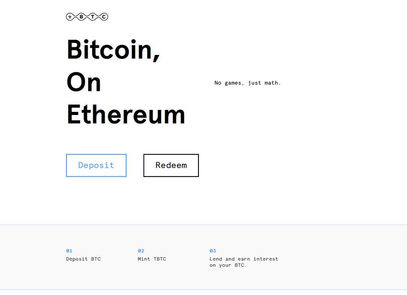 Bitcoin on Ethereum via tBTC