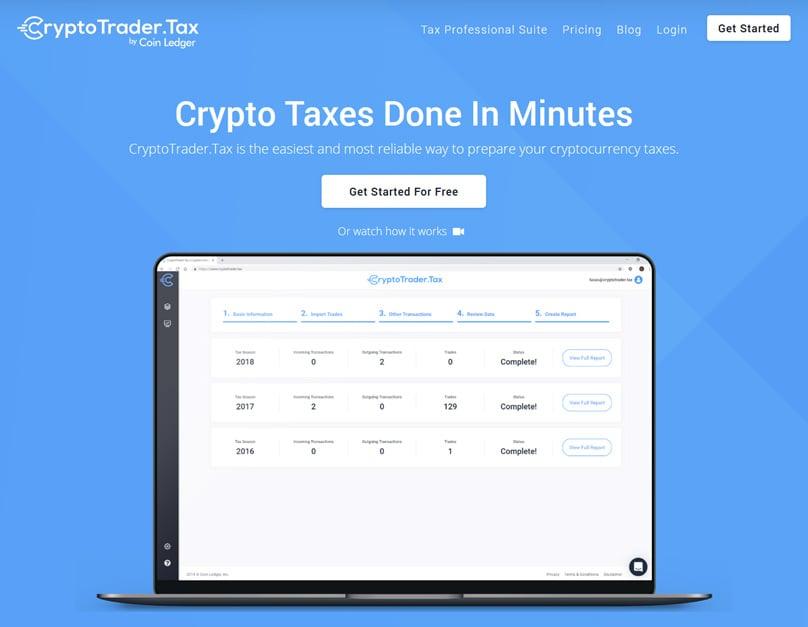 Cryptotrader.tax Homepage