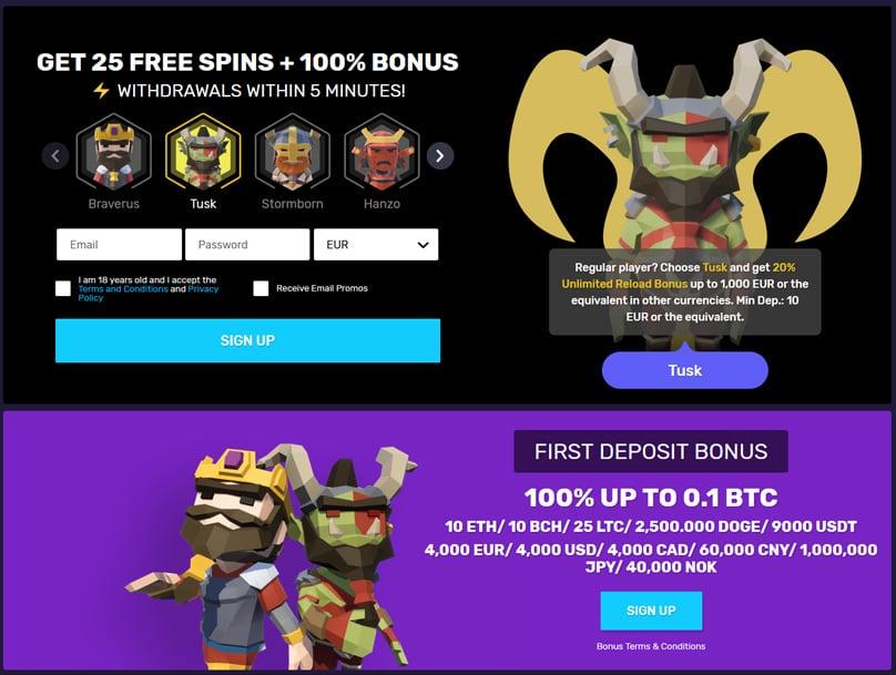 25 Free Spins & Deposit Bonus Offer