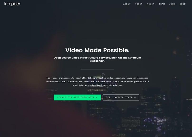 Livepeer Homepage