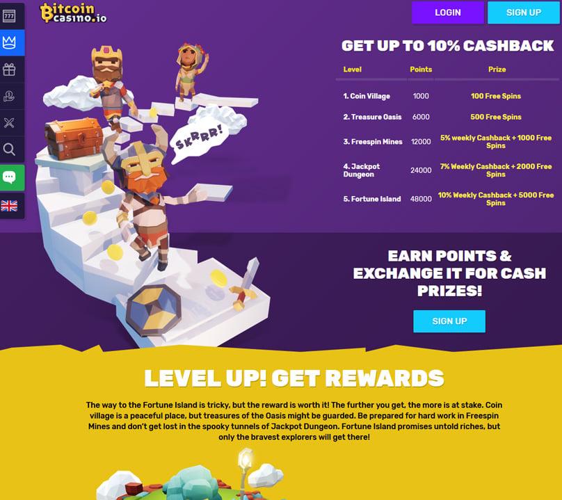 Level up to get extra rewards