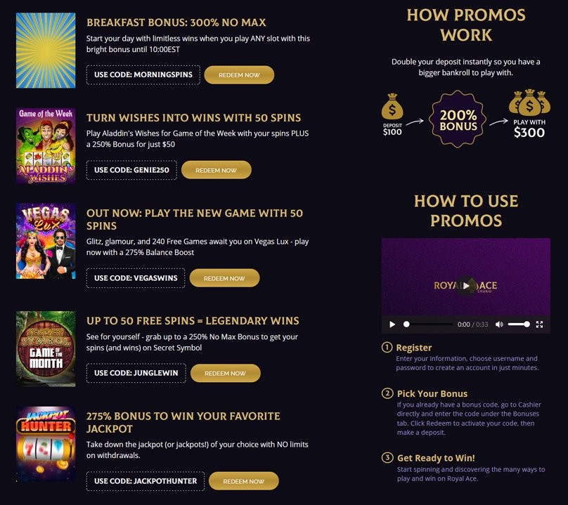 Choose your promo code