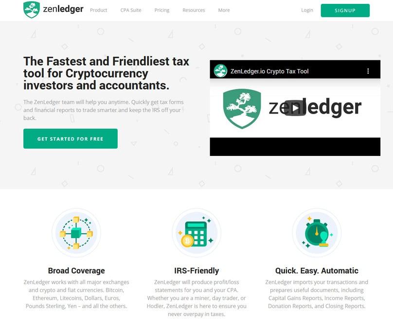 Zenledger Homepage