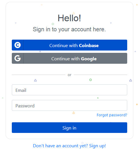 Koinly Signup Process