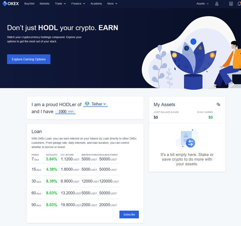Earn with OKEx