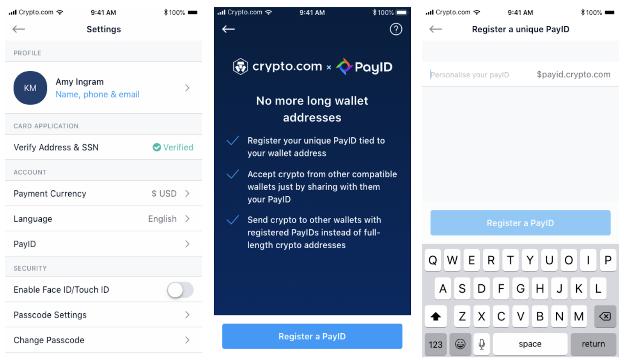 PayID on Crypto.com app