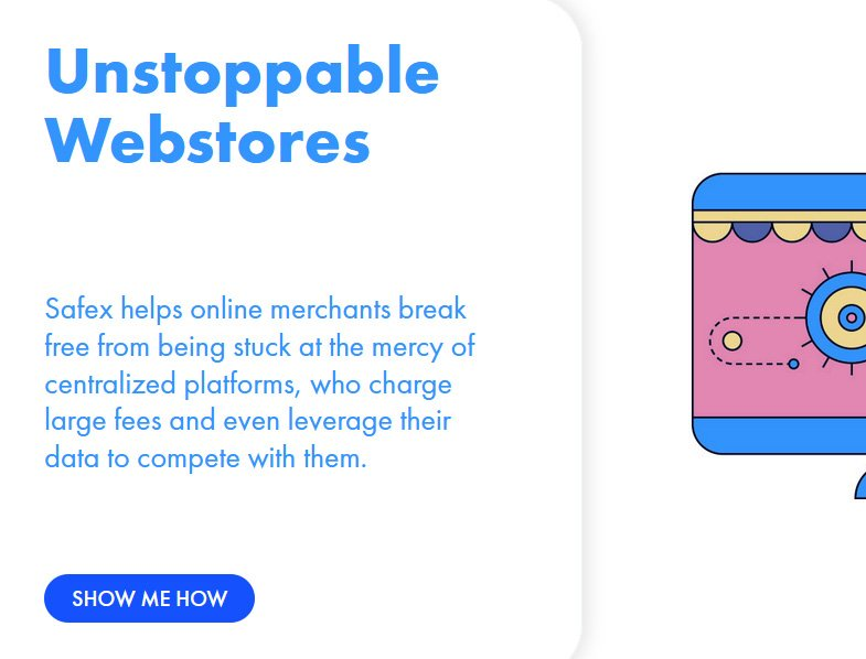 Build a webstore on a privacy blockchain.