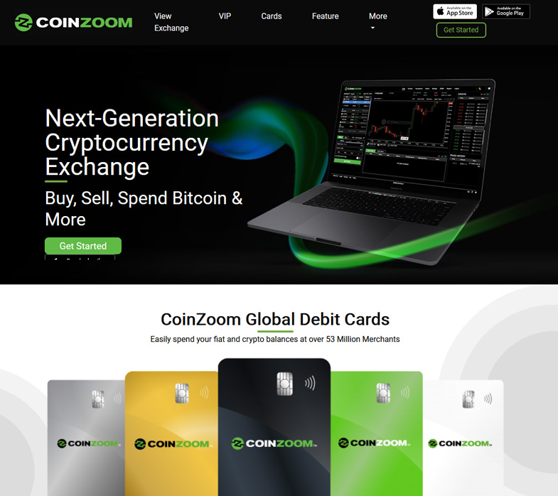 CoinZoom Homepage