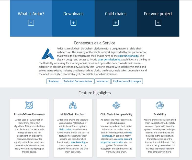 Ardor is a multichain blockchain platform