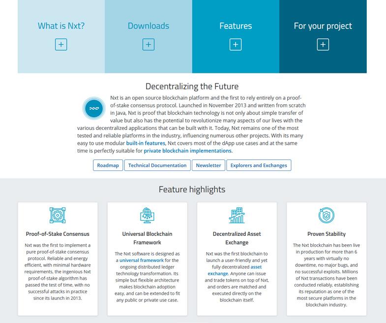 Nxt is an open source blockchain platform