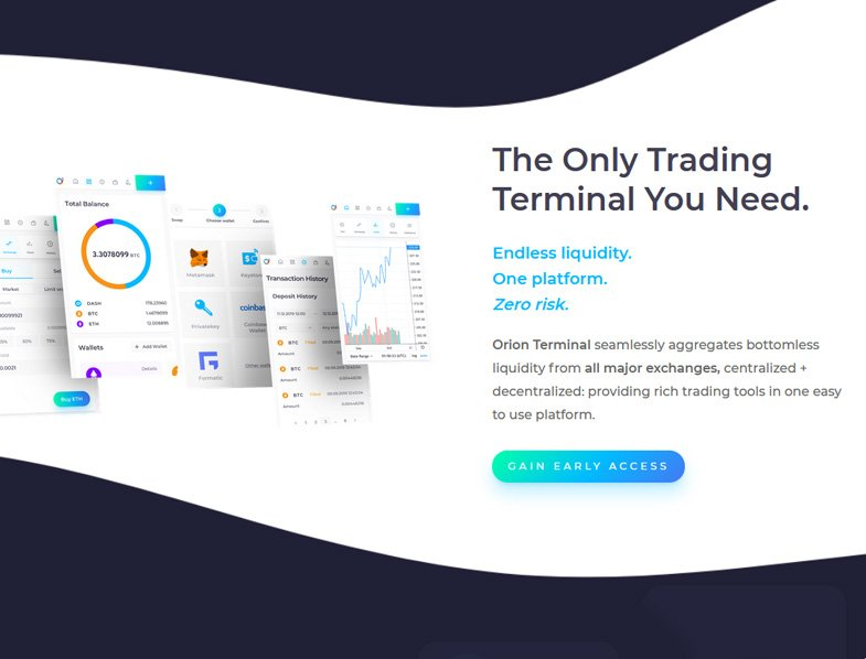 Orion Terminal aggregates liquidity from all major exchanges