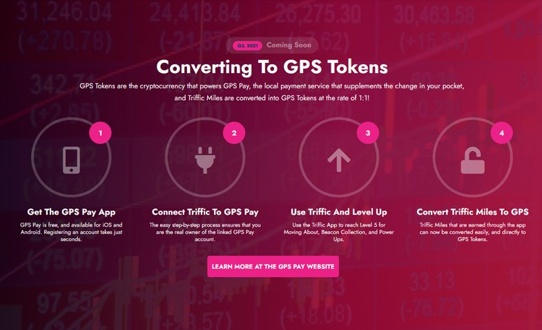 GPS Tokens are the cryptocurrency that powers GPS Pay,