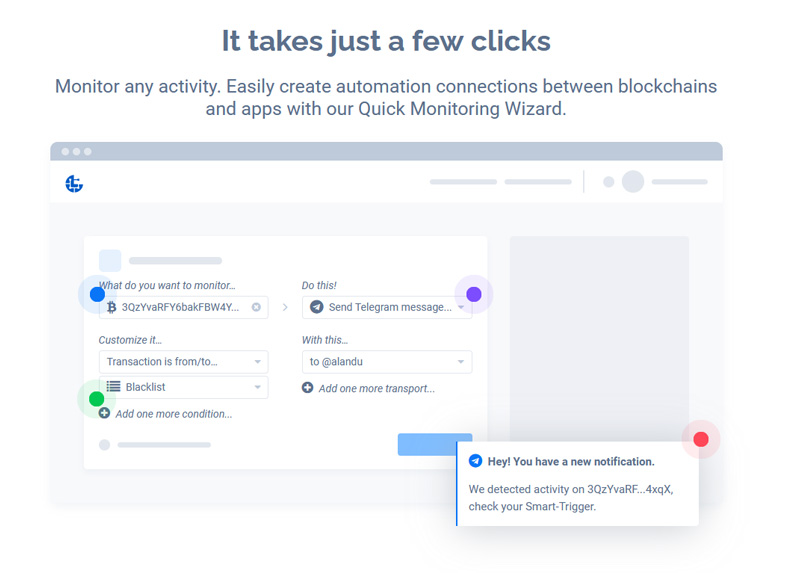 Easily create automation connections between blockchains and apps